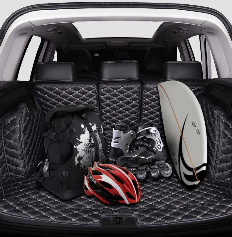 Para skoda octavia a7 a4 a5 carro tudo incluído tronco traseiro esteira do carro boot forro bandeja tronco traseiro acessórios de couro personalizado