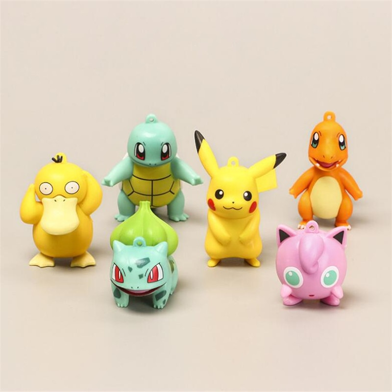 11cm anime pokemon gk pikachu squirtle model statue pvc action figure collectible model toys for children gifts 3/6 Pcs POKEMON Pikachu Bulbasaur Squirtle Psyduck Pocket Monster One Piece Anime Toys Action Figure Pvc Model Toy Gifts Pokemon