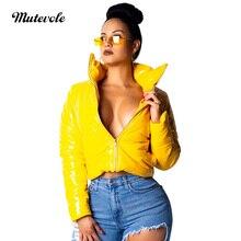 Mutevole Fashion Pu Leather Coat Women Zipper Faux Leather Coat Jacket Long Sleeve Motorcycle Fake Leather Jacket Outerwear