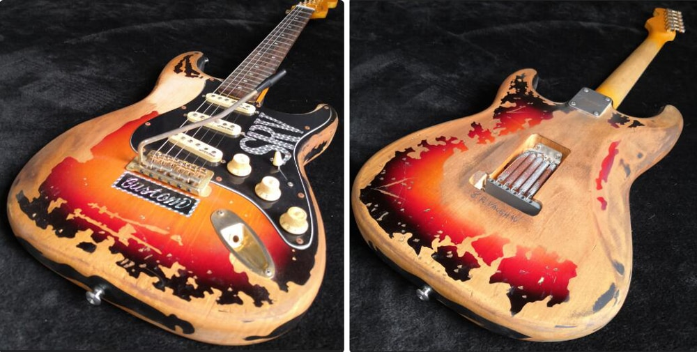Rare Guitar 10S Custom Shop Masterbuilt Limited Edition StevieRayVaughan Tribute SRV Number One  Electric Guitar enlarge