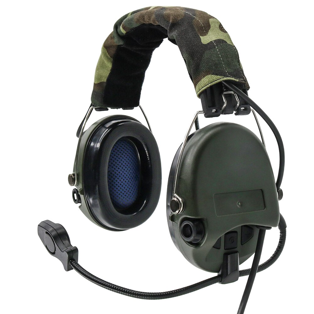 TCIHEADSET Tactical Earmuffs Pickup Noise Reduction MSASORDIN Tactical Headset Airsoft Military Electronic Shooting Headset FG