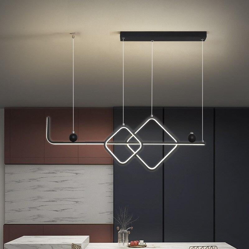 Modern Led Pendant Light Black Gold Light fixtures Pendant Lamp for Dining room Kitchen Living room Hanging Lighting lamp
