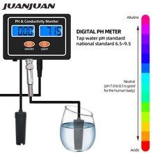 Numérique en ligne PH EC conductivité moniteur compteur testeur qualité de leau en temps réel surveillance continue pour Aquarium Aquarium