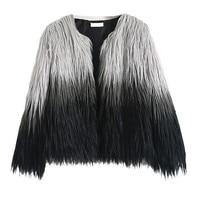 Fashion 2019 Women Furry Fur Coat Fluffy Warm Long Sleeve Female Outerwear Autumn Winter Coat Jacket Hairy Overcoat Blusa