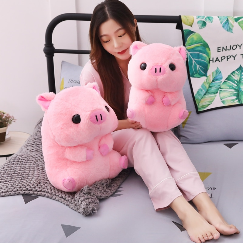 40cm Lovely Pink Pig Plush Toy Doll & Indoor Warm Winter Adult Stuffed Kawaii Shoes Children Baby Kawaii Birhtday Gift  - buy with discount