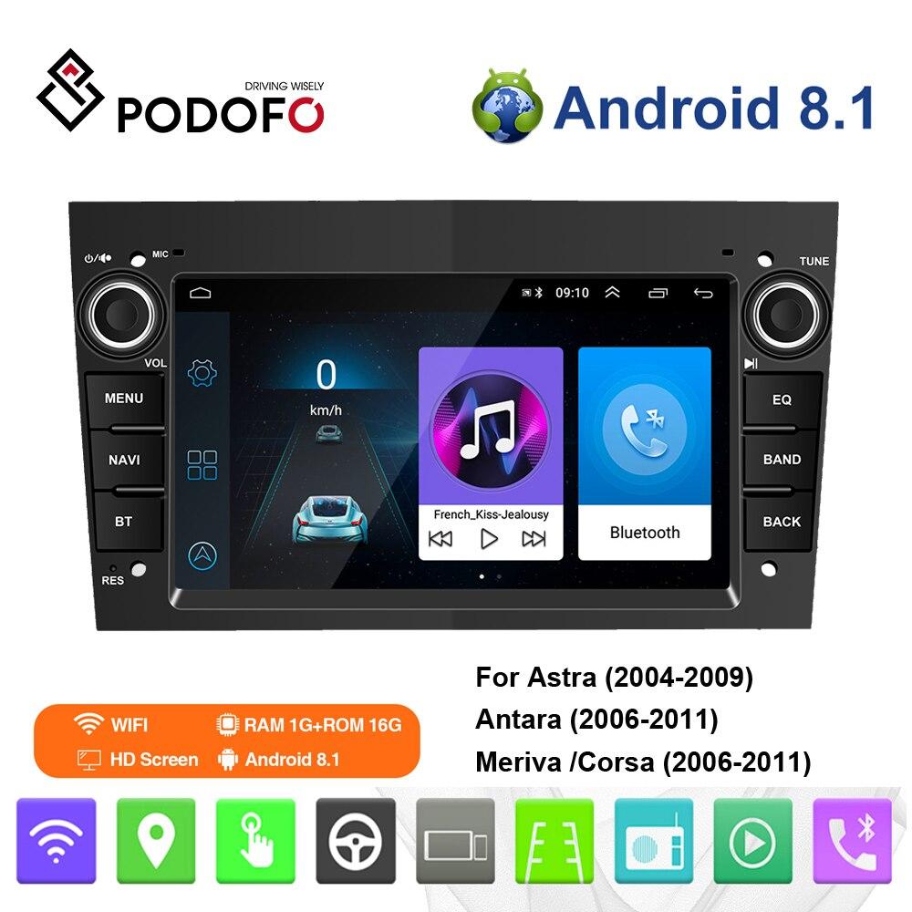Podofo أوبل أندرويد سيارة مشغل وسائط متعددة 2 الدين راديو ستيريو لتحديد المواقع لاسترا ميرفا فيكترا انتارا زافيرة كورسا