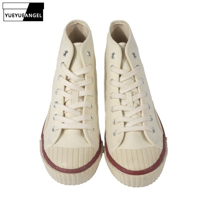 Moda dos Homens de Alta Dedo do pé Rendas até Fora dos Corredores Superior Sapatos Casuais Zapatos Hombre Redondo Tênis Calçados Masculinos Harajuku Lona
