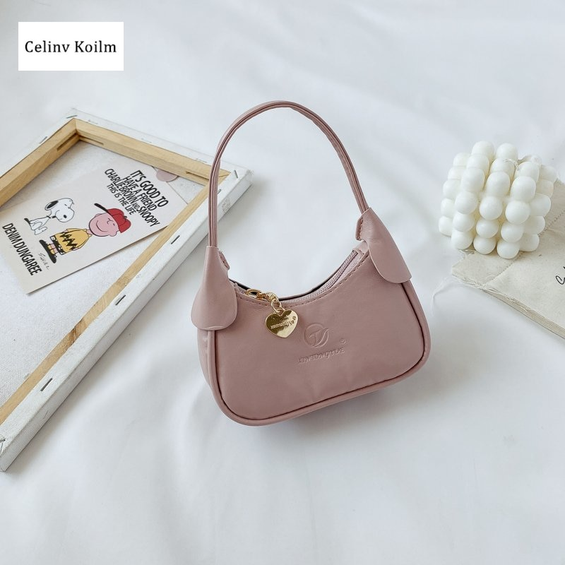 Celinv Koilm Children's Six-Color Portable Small Bags Summer New Baby Boy's And Girl's Children's Portable Crescent Coin Purse