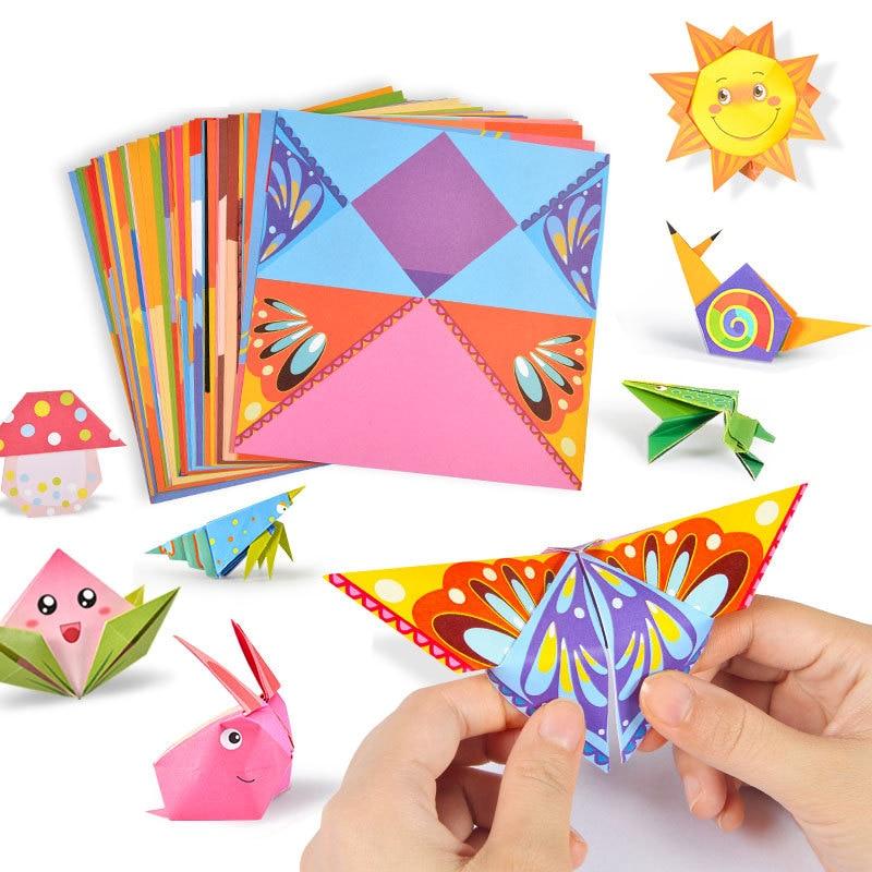 Juguetes para bebé 3D 54 páginas Origami dibujos animados animales libro juguete niños DIY Arte de papel bebé educación temprana niños juguetes hechos a mano regalos