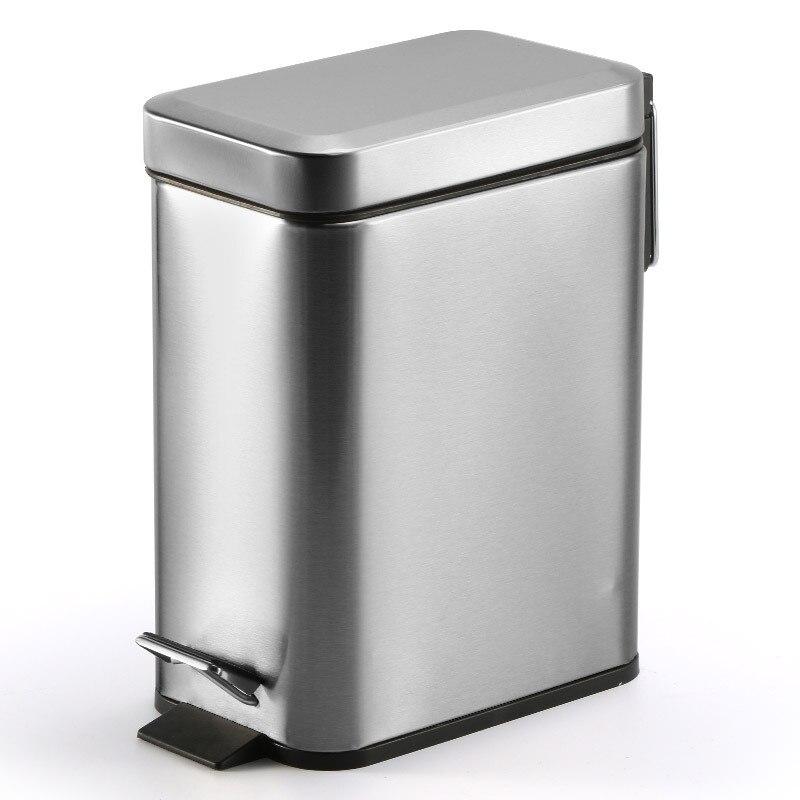 Dustbin lata de lixo do banheiro para a reciclagem de latas de lixo com tampa pedal lixeira de aço inoxidável criativo mini carro lata de lixo
