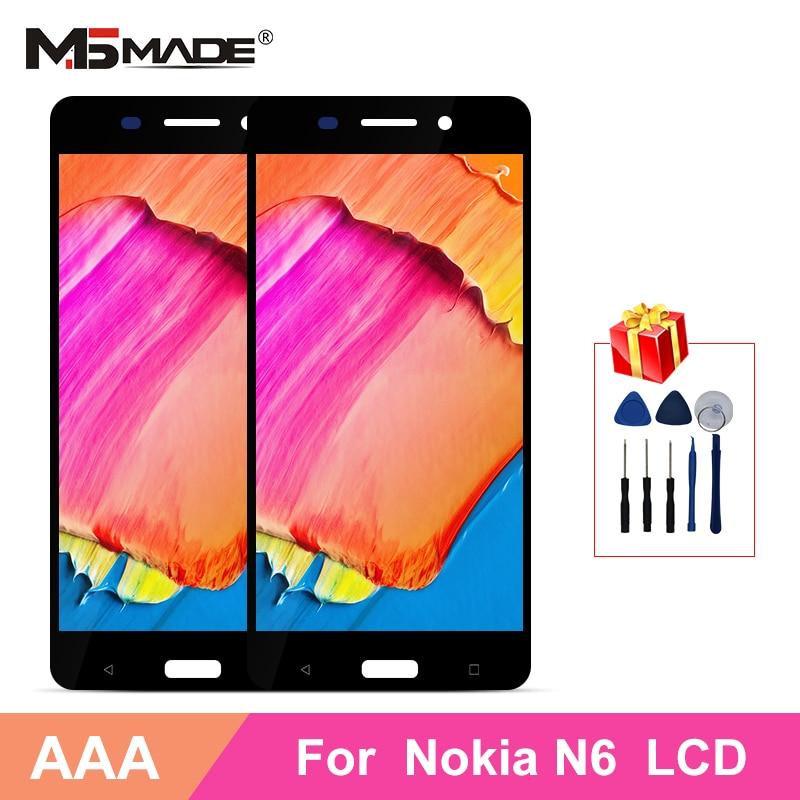 "5,5 ""para Nokia 6 N6 LCD pantalla digitalizador montaje de pantalla táctil piezas para Nokia TA-1021 TA-1033 TA-1025 pantalla LCD"