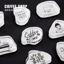 Vintage café vie série timbre anglais Alphabet bricolage acrylique caoutchouc timbres pour papeterie Scrapbooking timbres transparents