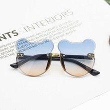 The New 2021 Cute Cartoon Bear Sunglasses Anti-glare Anti-radiation Fashion Baby Sunglasses Glasses