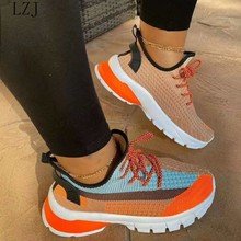 Spring Sneakers Women Thick Bottom Daddy Shoe Thick Bottom Round Toe Breathing Leisure Female Vulcan