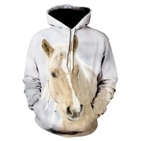 2021 hot oversized hood men women 3d hoodies print brown horse animal pattern pullover unisex casual creative oversized hoodies