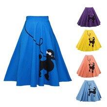 2020 Christmas pleated skirt Poodle Print Women Skirt High Waist Christmas Gifts for Women