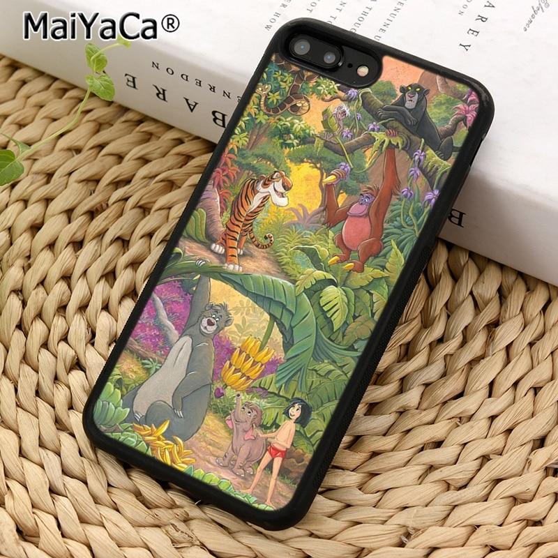 MaiYaCa el libro de la selva de personajes de la caja del teléfono para el iPhone 5 SE 6 6s 7 7 Plus X XR XS 11 pro max samsung galaxy S7 S8 S9 S10