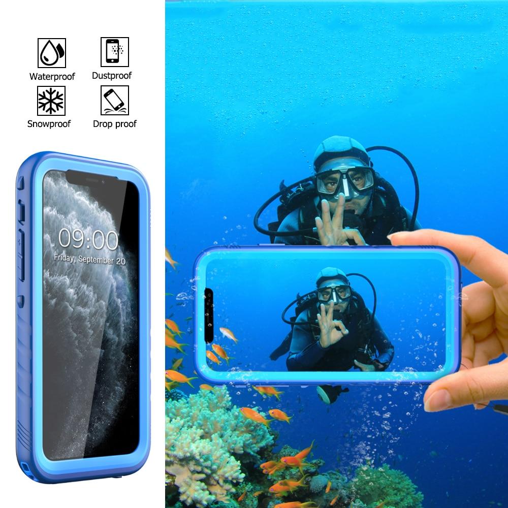 Funda impermeable subacuática de 10m para iPhone 11 Pro X XR XS MAX a prueba de agua para natación y buceo cubierta de protección completa a prueba de golpes