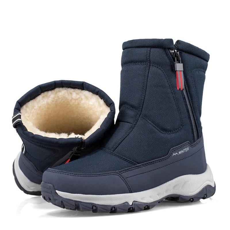 2020 Winter New Thick Couple Snow Boots Plus Velvet Warm Side Zipper Outdoor Casual Short Boots Cold Resistance Men Cotton Shoes