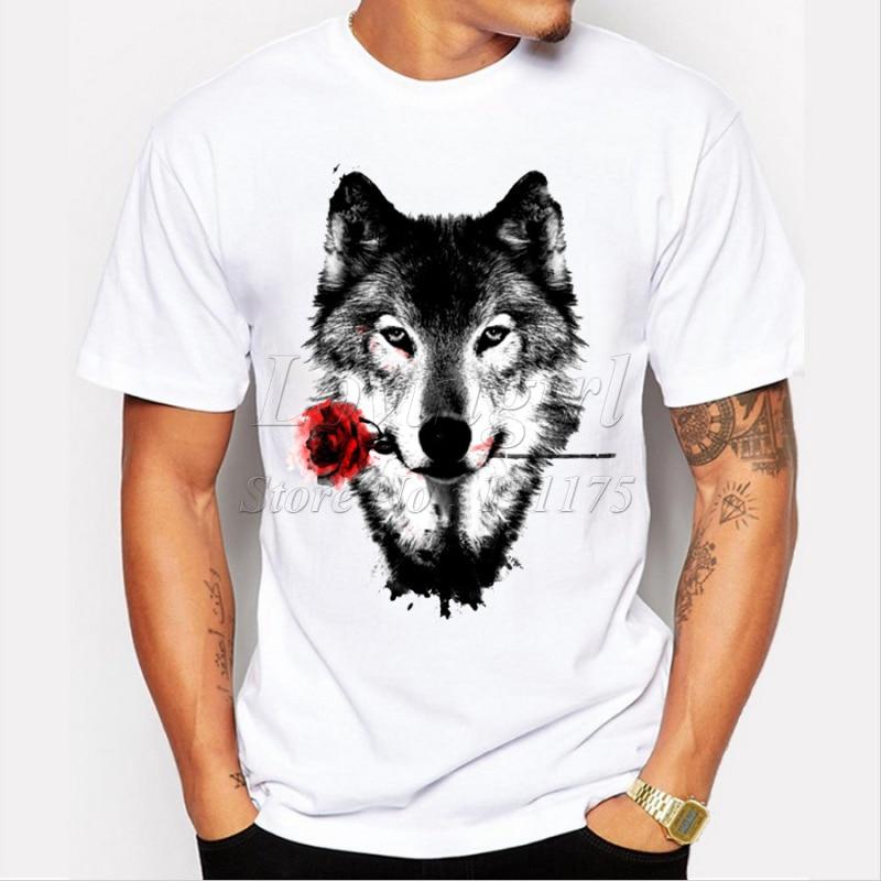 Camiseta de manga corta con estampado de Rosa Negra para hombre