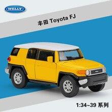 WELLY 136 Toyota FJ Alloy Pull back Toys Car Model Vehicles