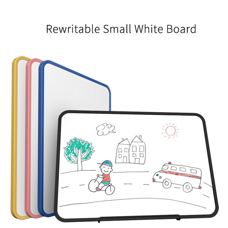 Whiteboard Erasable Double Side Magnetic Dry Erase Board for Notes Drawing Graffiti Writing Kids Office School Supplies A4 Size