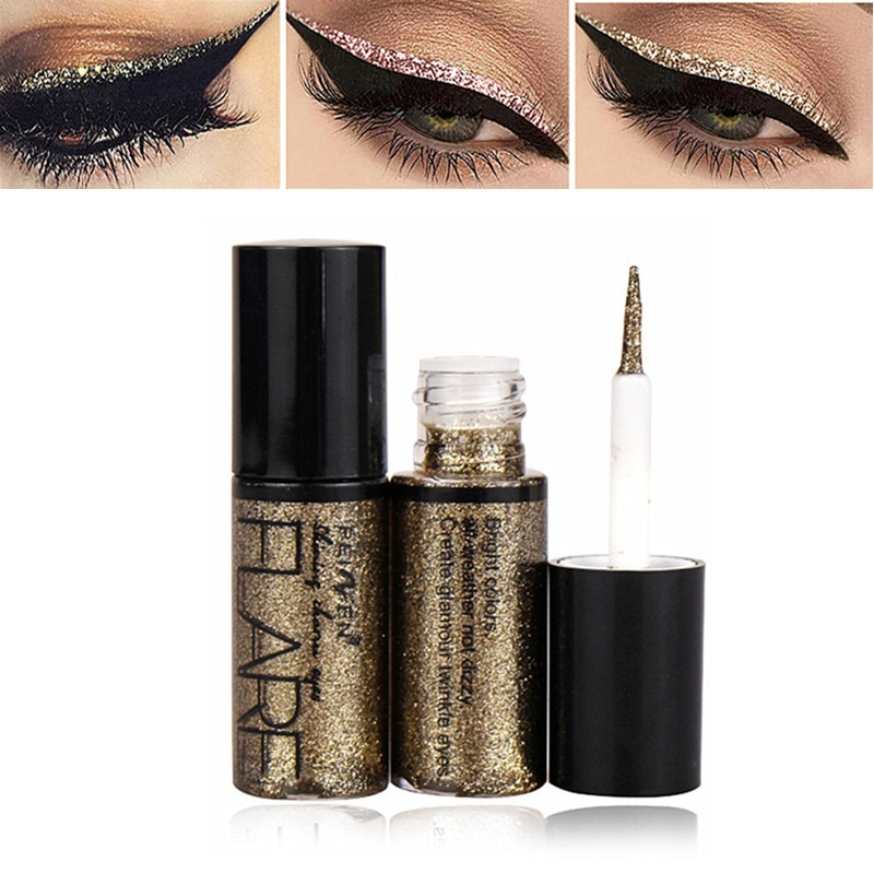 Professional New Shiny Eye Liners Cosmetics for Women Pigment Silver Rose Gold Color Liquid Glitter
