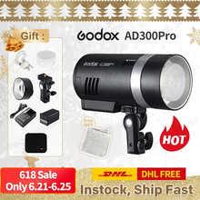 Карманная вспышка Godox AD300Pro TTL для Canon Nikon DSLR аксессуары для фотостудии tiktok youtube live PK AD200Pro