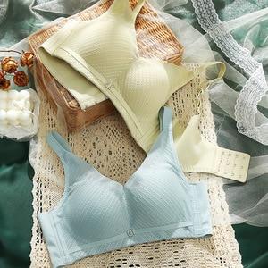 Ms # 2021 in the summer of 189 the new bra no rims small breasts sexy underwear deep V vice milk bra