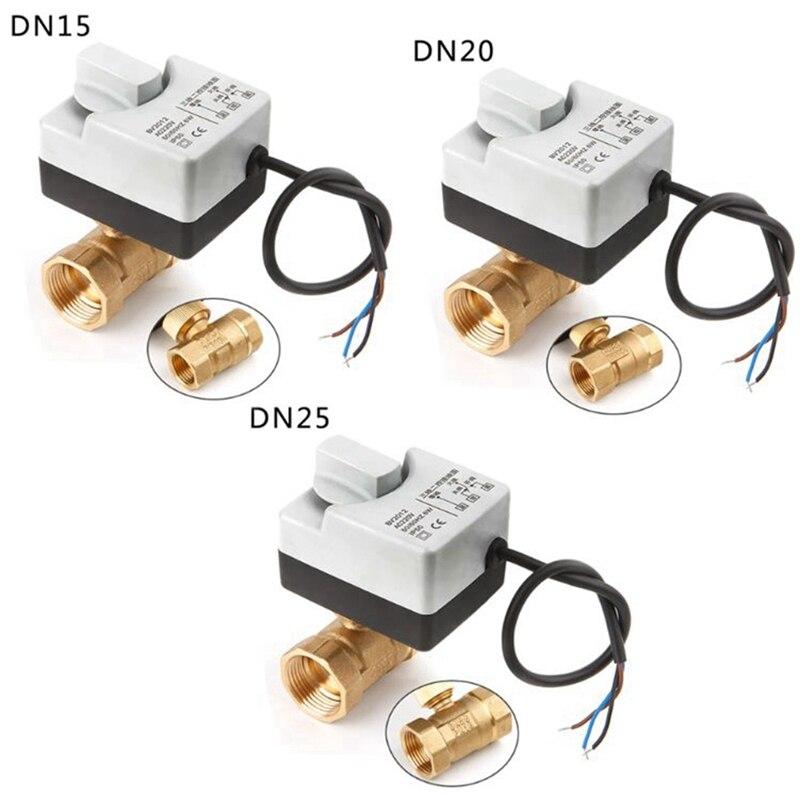 مشغل صمام كروي كهربائي مع مفتاح يدوي ، 2 طريقة ، 3 أسلاك ، Ac220V