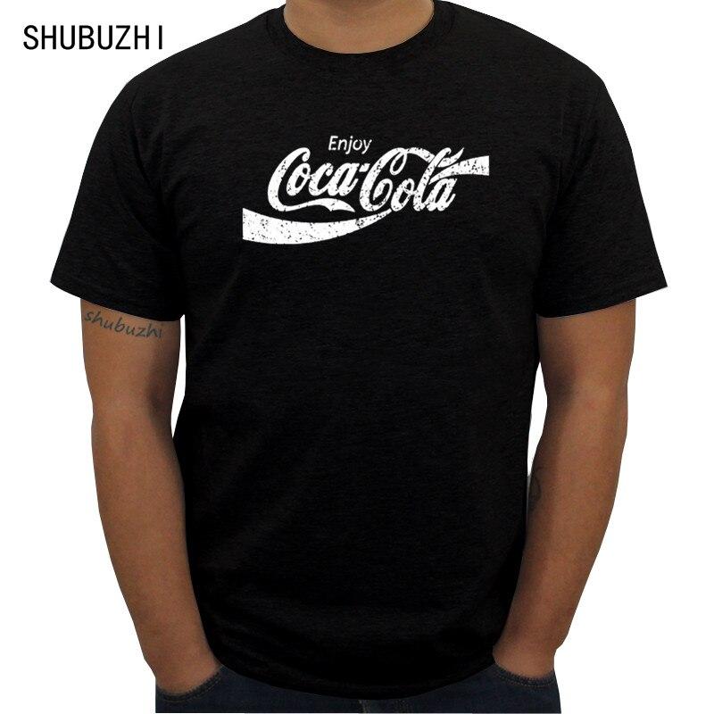 Fashion New Drink Coke Classic Black Men T-Shirt Size S-3XL Mens O-neck T Shirt Print Cotton Short Sleeve casual summer Tshirt