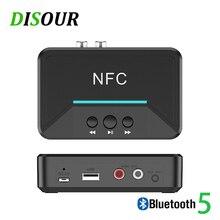 DISOUR 5,0 Bluetooth Empfänger Smart NFC A2DP RCA AUX 3,5 MM Jack Drahtlose Adapter Suppotr USB Spielen Für AUTO Home lautsprecher Kopfhörer