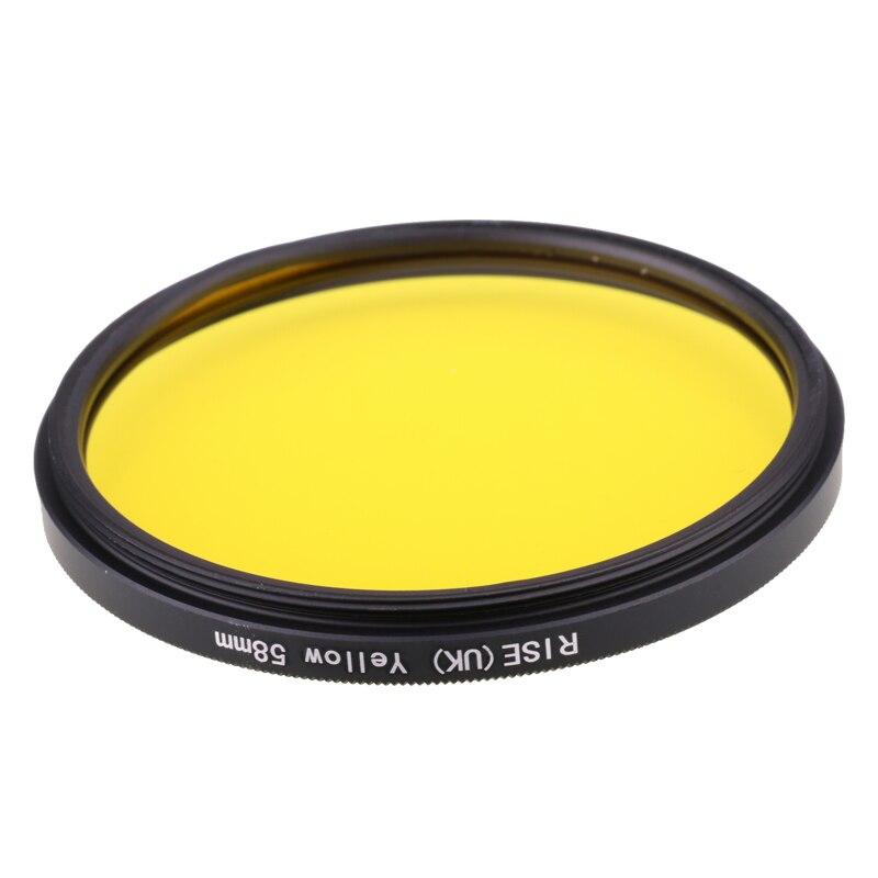 Filtre de caméra 58mm filtre de couleur jaune pour Nikon D3100 D3200 D5100 objectif de caméra reflex