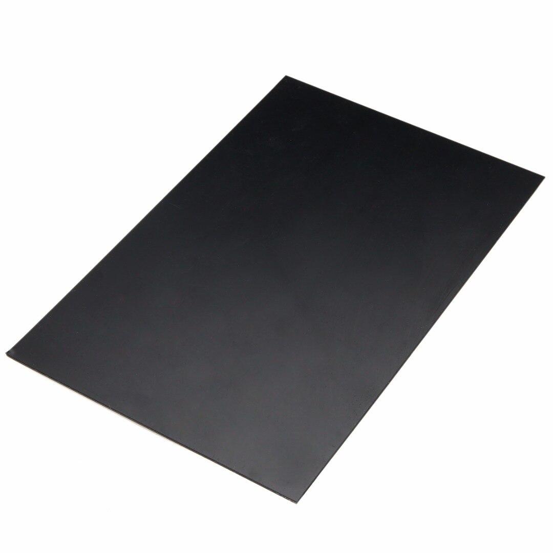 1pc pratical abs estireno plástico placa de folha plana 1mm x 200mm x 300mm preto para ferramentas da indústria