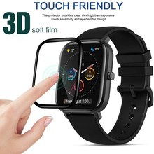 3D Curved Edge Soft Fibre Glass for Huami AMAZFIT GTS 2 Cover Screen Protector film for HUAMI Amazfi