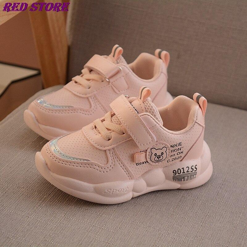 Zapatos Deportivos transpirables para niños y niñas, calzado infantil de cuero con...