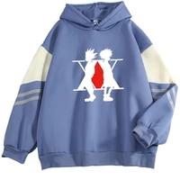 2021 autumn winter hunter x hunter hoodies mens autumn winter contrast color fleece thick warm streetwear essentials hoodie male
