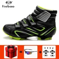tiebao winter cycling shoes men boots sapatilha ciclismo mtb bike bicycle self locking wear resistant riding zapatillas ciclismo