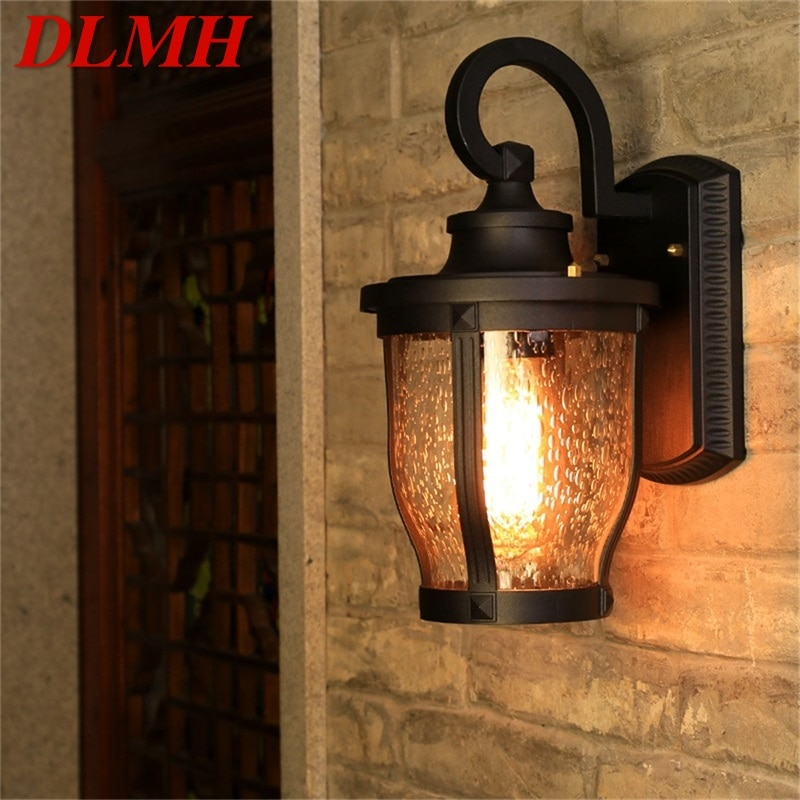 DLMH Retro Outdoor Wall Sconces Lights Classical Loft LED Lamp Waterproof IP65 Decorative For Home Porch Villa