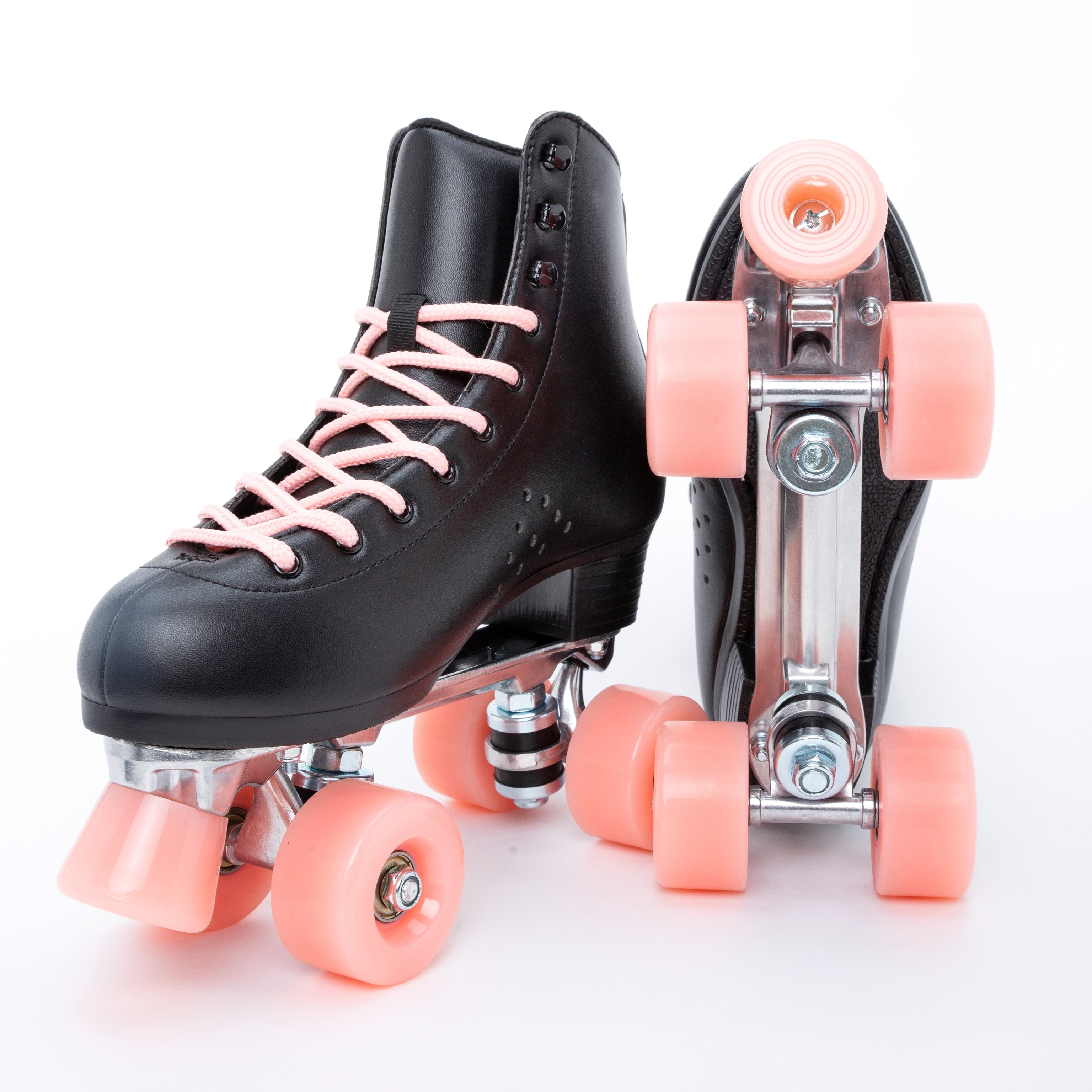 ANTIET Roller Skates For Women, All-Steel Base PU Leather Classic Double-Row Roller Skates, Suitable For Indoor And Outdoor