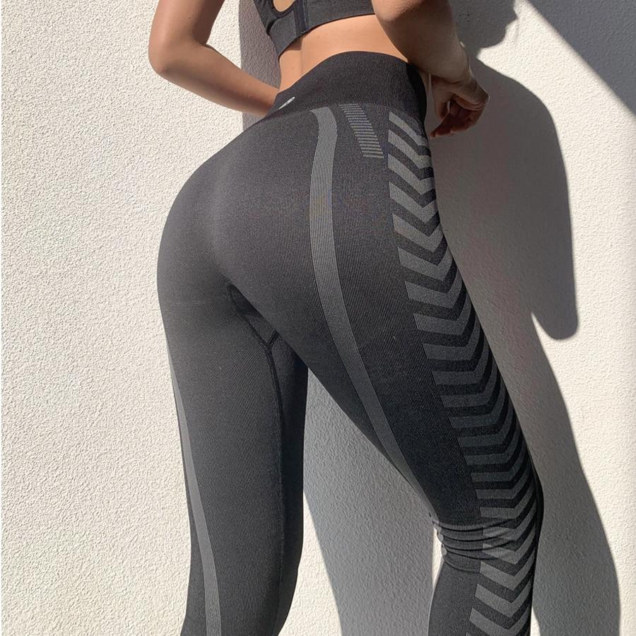BINAND Push Up Gym Leggings Sport Women Fitness Leggings Print Running Yoga Pants Slim Workout Tights Quick Dry Sports Leggings