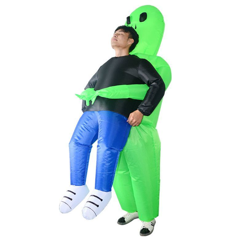 Alien take away toy Halloween party dress green alien pick me suit monster adult walking fun prop bag baby toy