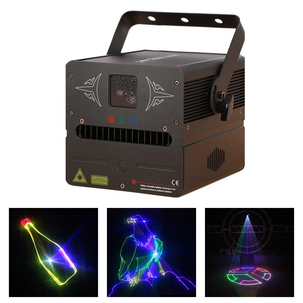 AUCD 500mW SD Card Edit Program RGB Fullcolor Beam Animation Scan Laser Projector Lights DMX DJ Party Show Stage Lighting FBSD5