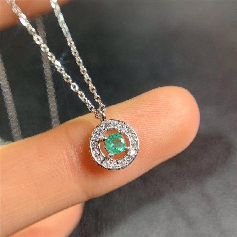 Natural esmeralda pedra preciosa nota modelagem pingente colar s925 prata esterlina simples moda jóias finas para mulher quente