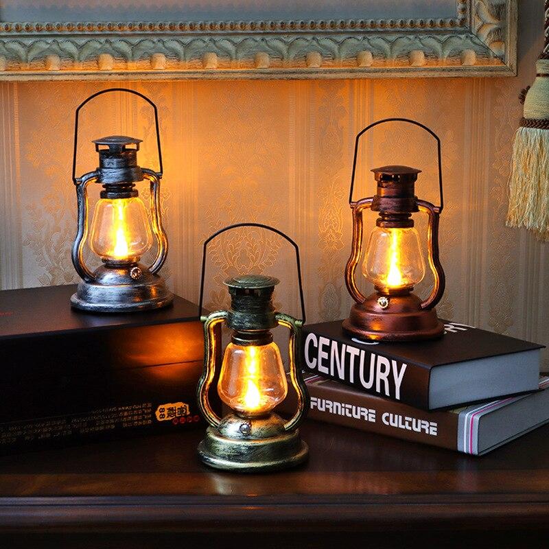 Retro Solar Kerosene Lamp Lantern Lantern Portable Lamp Home Outdoor Courtyard Garden Decoration LED
