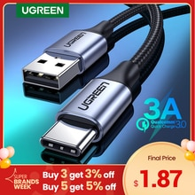 UGREEN USB C Cable for Xiaomi Redmi Note 10 USB Type C 3A Fast Phone Charging Cord for Huawei P40 Pr