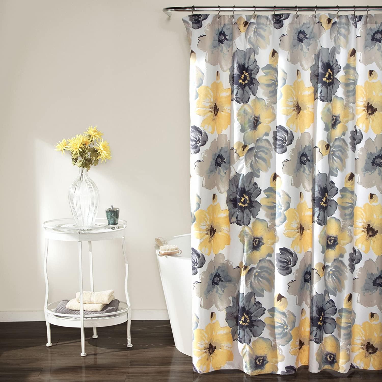 Accesorios modernos para baño, cortina de ducha con flor de baño, estilo...