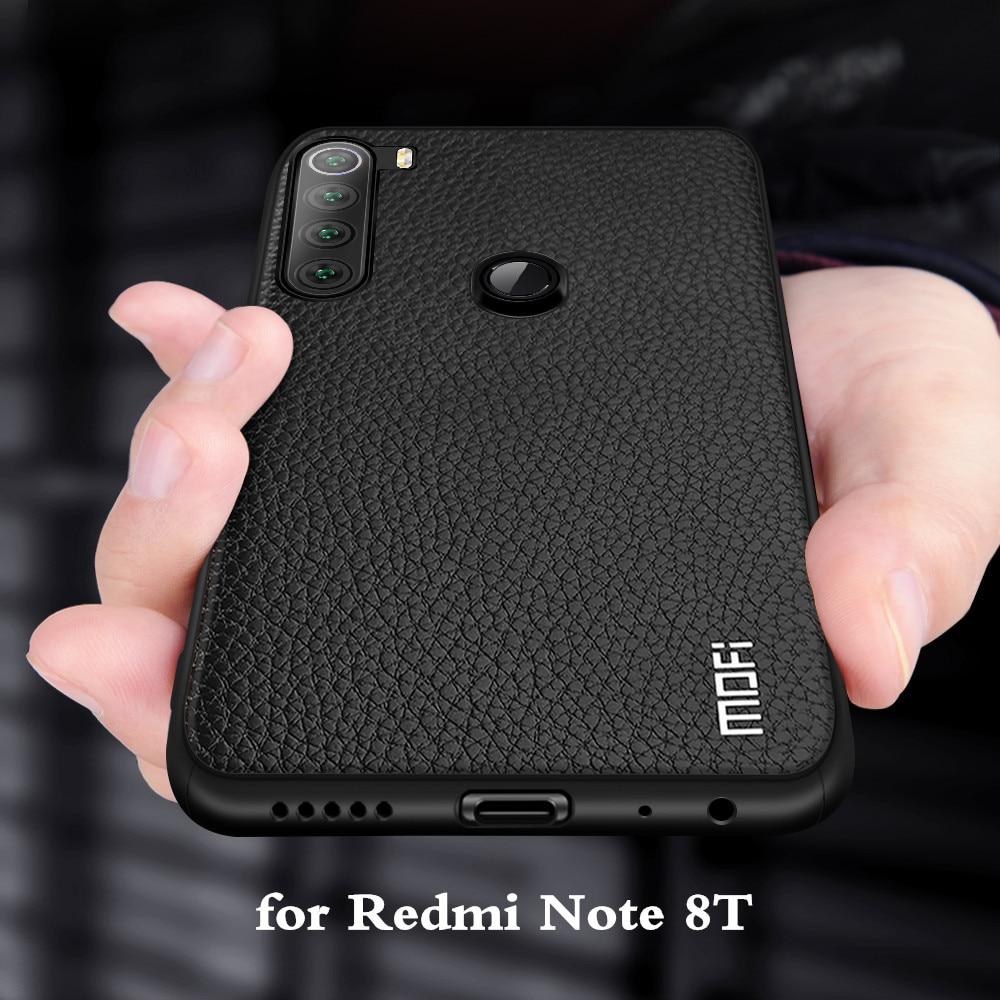 Funda para Redmi Note 8 T, funda para Xiaomi Mi Note 8t, funda MOFi de silicona a prueba de golpes, funda de cristal Note 8 T, carcasa de cuero PU