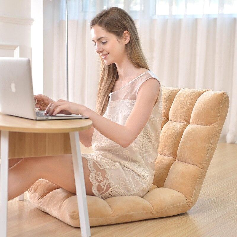 أريكة كسول تاتامي قابلة للطي كرسي مسند الظهر كرسي مقعد الطابق كرسي فوتون كيس فول بوف نفخة الأريكة تاتامي غرفة المعيشة 50x110cm