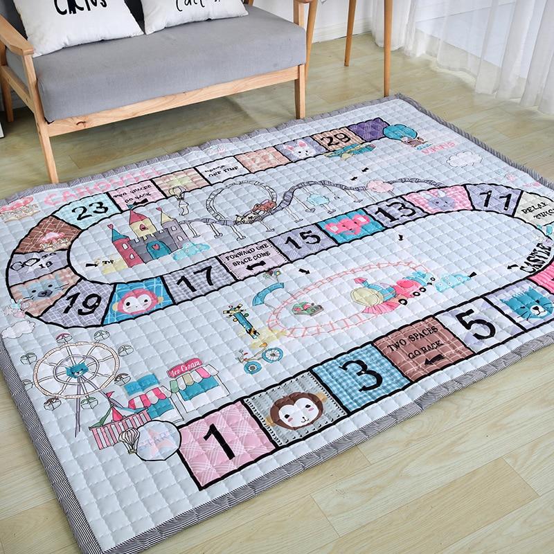 2020 новый детский домашний ковер 150*200 см, большой размер, детский коврик, антискользящий ковер для детской комнаты, коврик для гостиной, мульт...